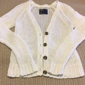 White American Eagle Button Down Sweater